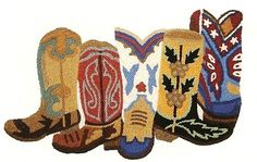 """""""cowboy boots"""" western accent rug"""