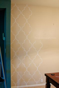 DIY moroccan wall painting