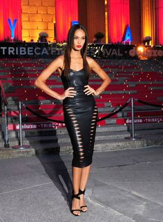 Joan Smalls brought sexy sophistication to the 2015 Vanity Fair Tribeca Film Festival
