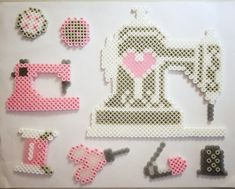 Perler bead sewing set!
