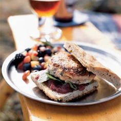 Give beef a break and try quick, simple salmon burgers. Combine salmon with red onion and fresh basil to make a hearty burger with less than 200 calories. Enjoy on toasted fococcia bread for a gourmet meal that's ready in 10 minutes. Summer entertaining just got so much easier.