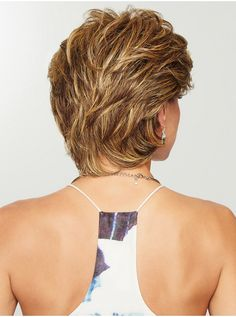 Wear this heat friendly synthetic wig for easy styling! Gratitude by Eva Gabor Wigs is a comfortable wig choice for women with hair loss. Short Hair With Layers, Short Hair Cuts For Women, Short Hairstyles For Women, Teenage Hairstyles, Wig Hairstyles, Short Layered Haircuts, Short Haircut, Medium Hair Styles, Curly Hair Styles