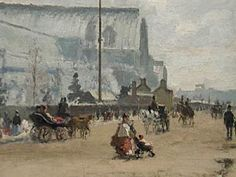 """Camille Pissarro – """"Upper Norwood, Crystal Palace"""" 1870"""