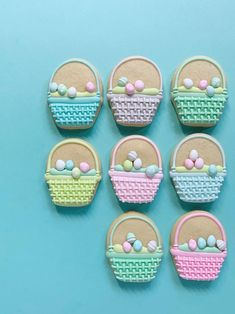 Easy Royal Icing Recipe, Sugar Cookie Royal Icing, Sugar Cookies, Easter Cupcakes, Easter Cookies, Easter Candy, Easter Treats, Cake Decorating Tips, Cookie Decorating