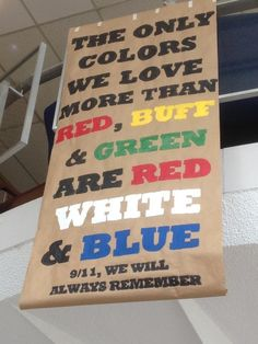 The Only colors we love more than Wine and Silver Blue are Red White and Blue. 9/11 we will always remember.