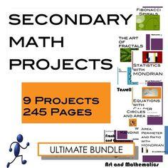 Algebra and Pre-Algebra: ULTIMATE Math Project Bundle (CCSS)