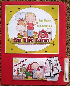 """Farm file folder game, part of the series of """"God made"""" printables from this site, really really nice materials"""