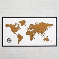 Táto drevená, korková, zapichovacia 3D mapa sveta na stenu s čiernym dreveným rámom je originálny a moderný obraz, ktorý nesmie chýbať v domácnosti žiadneho vášnivého cestovateľa. Times Square, Diagram, Art, Fotografia, Kunst, Art Education, Artworks