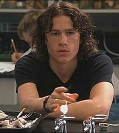 Heath Ledger singing 'Cant take my eyes off you' - 10 things I hate about you. http://www.youtube.com/watch?v=w6XGUhzfutc