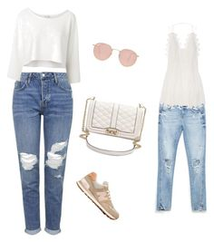 """""""Untitled #17"""" by hm1491460 on Polyvore featuring New Balance, Topshop, Witchery, Rebecca Minkoff, Ray-Ban, Zara, Chloé, women's clothing, women and female"""