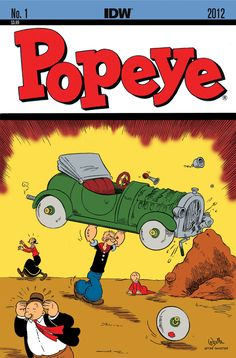 Popeye Impersonates the Famous Action Comics #1 Cover, Featuring Superman