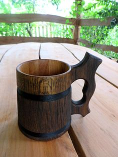 Oak Stein Beer Lovers Gift for manKitchen Rustic от CuteDecorUA