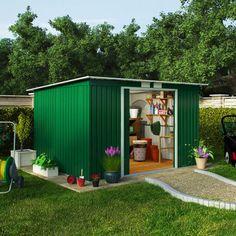 Cargo-Metal-Garden-Shed-Pent-Roof-Storage-Shed-including-Foundation-Kit