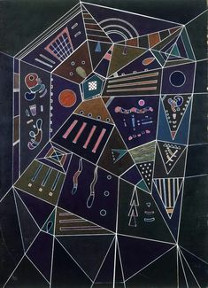 Wassily Kandinsky - Thin Treds (Fils fins), N / D Wassily Kandinsky, Abstract Words, Abstract Art, Collages, Russian Avant Garde, Illustrations, Geometric Art, Sacred Geometry, Art Music