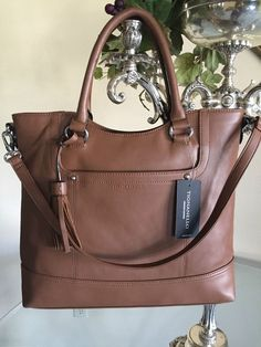 Tignanello Handbag Smooth Operator Shopper Tote Leather Saddle NEW   Tignanello  TotesShoppers new   8cc920bd85a1b