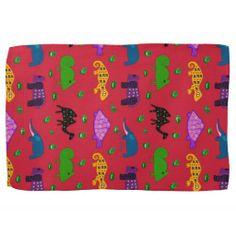 Animals - Purple Turtles & Blue Elephants Towel