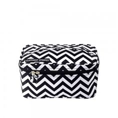 Travel In Style with Elephant Stripes. Beautiful travel products, luggage, packs, travel accessories, travel wear and essentials. Travel Wear, Travel Style, All Black, Black And White, Cosmetic Case, Travel Accessories, Chevron, Elephant, Stripes
