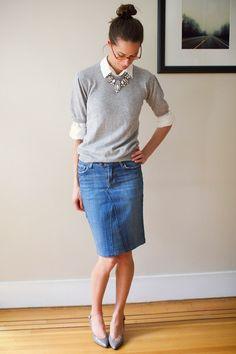 Coudre une jupe en jean de récup – idées DIY faciles