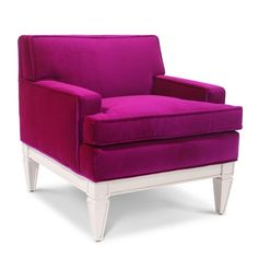 magenta sofa chair. just add some fun accent colors. maybe in a marigold or sea foam green. :)