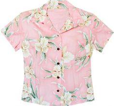 f0f425c5 401R Ladies Hawaiian Shirt [Retro Orchid/Pink] - Women's Hawaiian Shirts -  Hawaiian