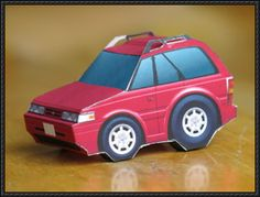 SD Mazda Capella (Mazda 626) Paper Car Free Vehicle Paper Model Download - http://www.papercraftsquare.com/sd-mazda-capella-mazda-626-paper-car-free-vehicle-paper-model-download.html
