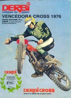 Publicidad de Derbi Cross 75 cc ganadora del Trofeo Junio 1976