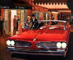 Plan59 :: Classic Car Art :: Vintage Ads :: 1959 Pontiac Bonneville My first car. In Canada the model was badged as a Strato Chief.