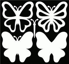 butterfly SVG files and a great sample card on the page.Free butterfly SVG files and a great sample card on the page. Butterfly Template, Flower Template, Butterfly Stencil, Crown Template, Heart Template, Butterfly Cards, Paper Butterflies, Paper Flowers, Diy And Crafts