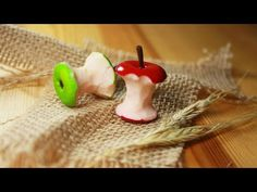polymer clay Apple Core TUTORIAL - YouTube
