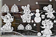Так мы оформили в нашей группе окошечки к Новому году:)  Первое окно. фото 3