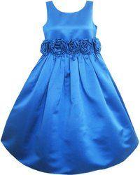 photo Sunny Fashion Robe Fille Bleu Shinning Mariage Demoiselle d'honneur 4/5 ans