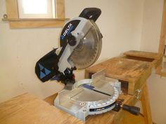 Delta Miter Saw, Model MS250, and shop made stand