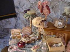 Miniature ladies accessories by Susan Harmon Hattler