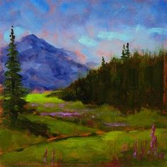 "Daily+Paintworks+-+""Rainier+Meadow""+-+Original+Fine+Art+for+Sale+-+©+Blaine+Johnson"