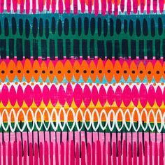 Estampado digital com padrão étnico. Ideal para dar um toque de cor e vivacidade à decoração do seu espaço. Adequado para cortinas, estores, almofadas e projetos de pequena dimensão.