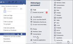 Journal activités Facebook -comment effacer l'historique