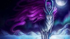 Anime Wolf Mythical Creatures Fantasy Creatures Strange Creatures Wolf Wallpaper Wallpaper Desktop