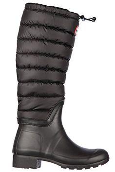 Hunter Womens Original Tall Quilted Leg Rain Boots Black Rain Boot 7   gt  gt  ccd3680ea