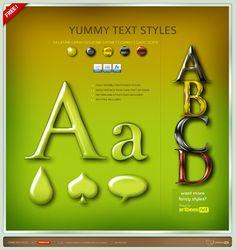 20 Free Stunning Photoshop Text Styles | Design Inspiration. Free Resources & Tutorials
