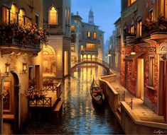 DIY Diamond Painting Cross Stitch Street in Venice Pictures Rhombus Diamond Embroidery Landscape Wall Decorative Hobby Crafts Foto Gif, Ravensburger Puzzle, Time Painting, Winter Painting, Canvas Prints, Art Prints, Art Graphique, Gustav Klimt, Monuments