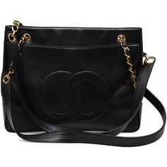 Vintage Chanel THEBROWNPAPERBAG (3 125 AUD) ❤ liked on Polyvore featuring bags, handbags, bolsas, purses, chanel, accessories, black, handbags shoulder bags, chanel shoulder bag e pocket purse