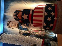O bolo! Capitão América