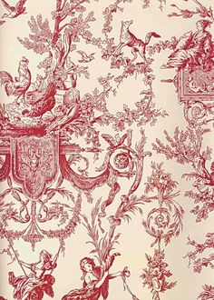 Interior Place - Red Beige AT4238 Old World Toile Wallpaper, $31.20 (http://www.interiorplace.com/red-beige-at4238-old-world-toile-wallpaper/)
