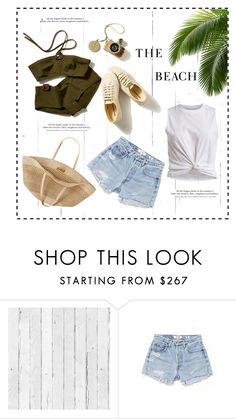 """""""Hello summer"""" by jelenamaks ❤ liked on Polyvore featuring NLXL, RE/DONE, H&M, Flora Bella, Summer, GREEN and beach"""