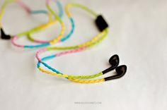 DIY: Auriculares bordado / Auriculares de Colores