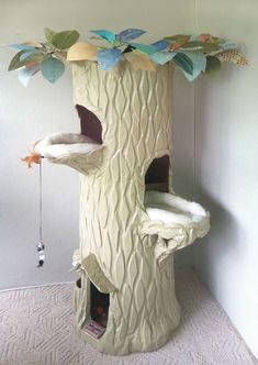 spiral cat stairs modern tree alternatives for uptodate pets catissa geometric design cats staircase furhaven tiger tough double decker house cheap shelves Chinchilla Baby, Cat Stairs, Cat Towers, Cat Playground, Cat Room, Outdoor Cats, Outdoor Play, Pet Furniture, Furniture Ideas
