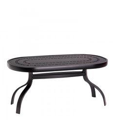 "Deluxe 19"" x 37"" Rectangular Coffee Table with Trellis Top"