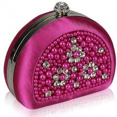 Beaded Pink Clutch Bag - Clutch Bags
