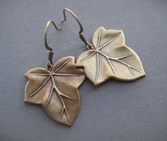 Ivy Leaf Earrings  Ivy Jewelry  Nature Jewelry  Leaf