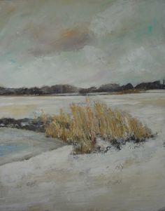 Margo van Erkelens - Riet in een winterlandschap